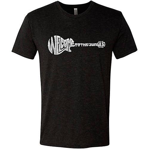LA Pop Art Welcome To The Jungle Black T-Shirt