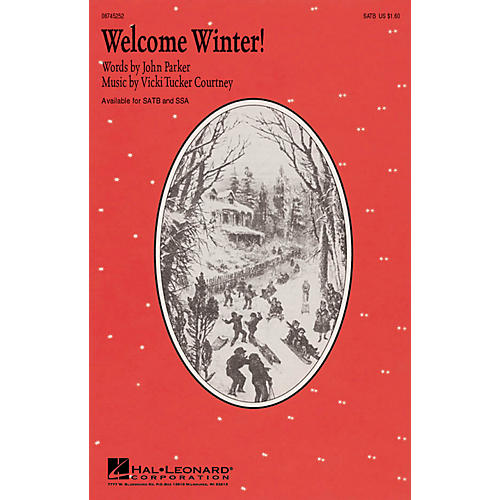Hal Leonard Welcome Winter! SATB composed by John Parker
