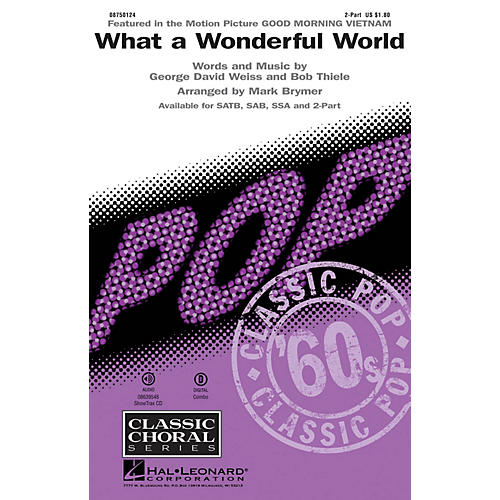 Hal Leonard What a Wonderful World 2-Part by Louis Armstrong arranged by Mark Brymer
