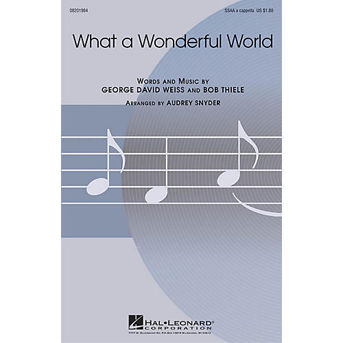Hal Leonard What a Wonderful World SSAA A Cappella arranged by Audrey Snyder