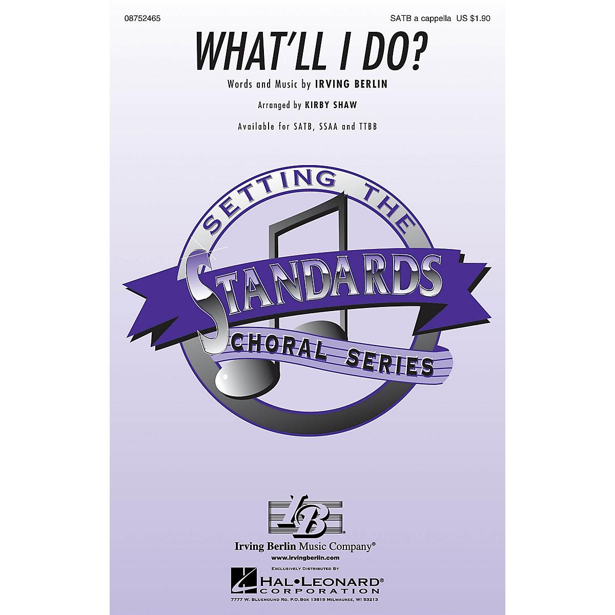 Hal Leonard What'll I Do? TTBB A Cappella Arranged by Kirby Shaw