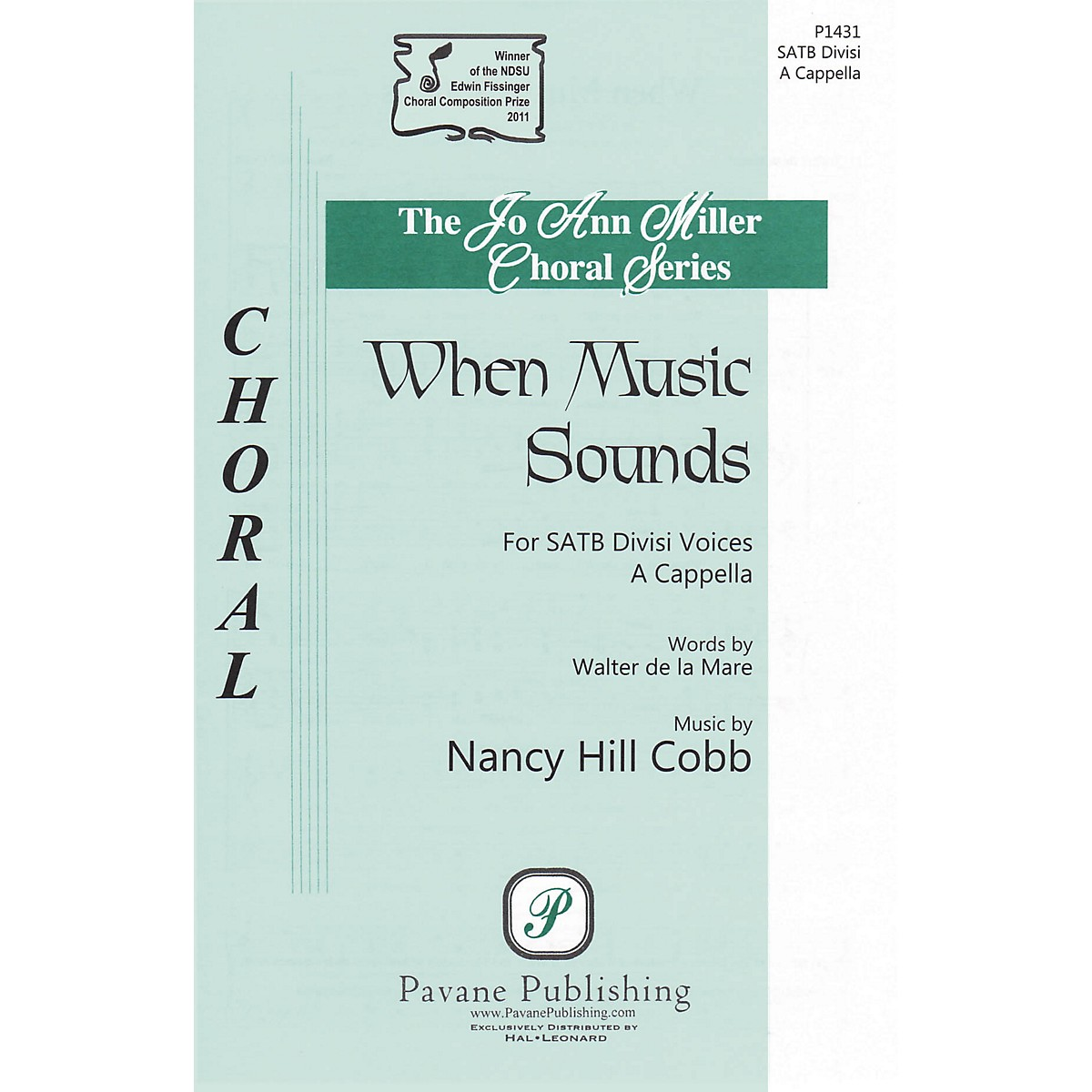 Pavane When Music Sounds SATB a cappella composed by Nancy Hill Cobb