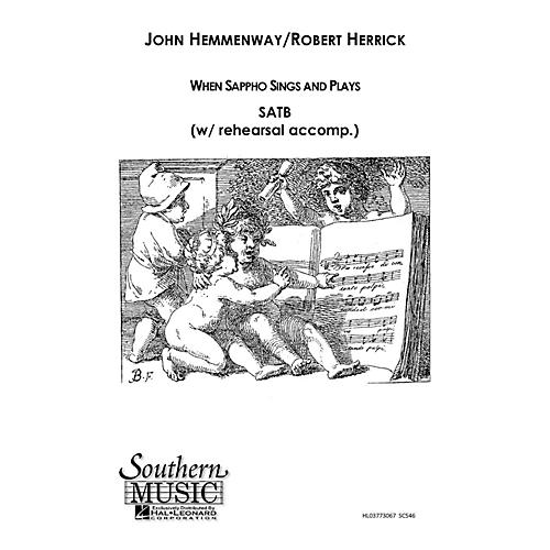 Hal Leonard When Sappho Sings And Plays (Choral Music/Octavo Secular Satb) SATB Composed by Hemmenway, John
