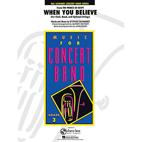 Cherry Lane When You Believe (from The Prince of Egypt) - Young Concert Band Series Level 3 arranged by