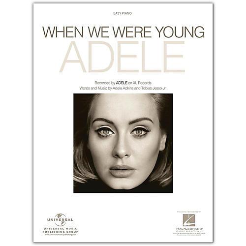 Hal Leonard Where We Were Young - Adele, Easy Piano Sheet