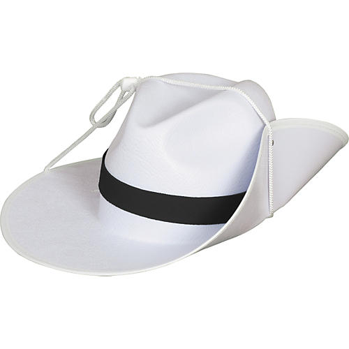 Director's Showcase White Aussie Hat with Colored Band