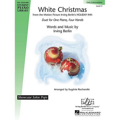 Hal Leonard White Christmas Piano Library Series Book by Irving Berlin (Level 4)