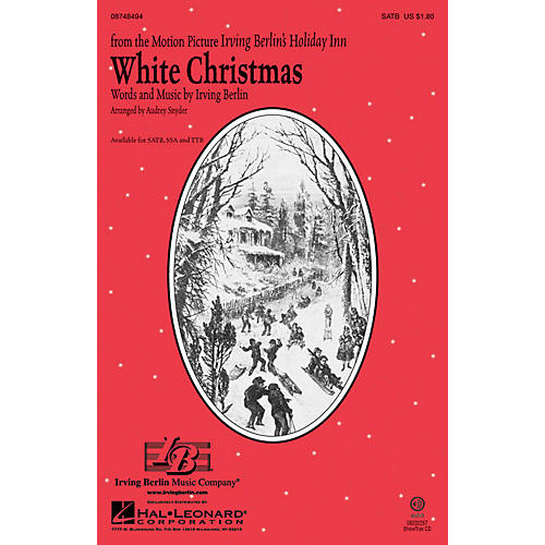 Hal Leonard White Christmas TTB Arranged by Audrey Snyder
