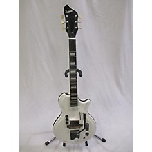 Supro White Holiday Hollow Body Electric Guitar