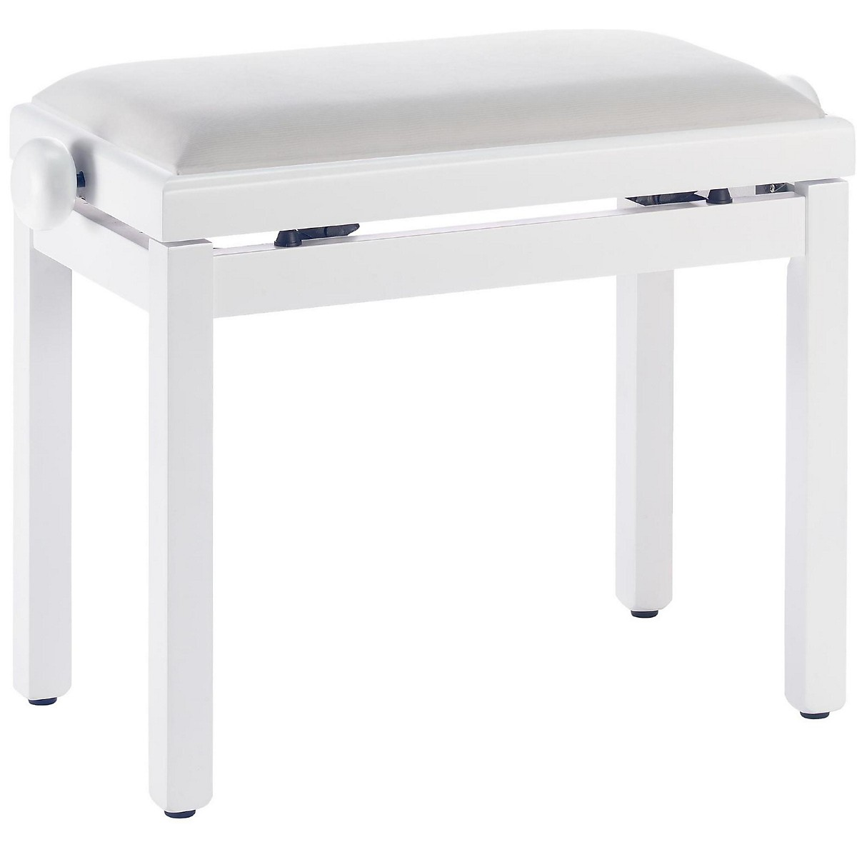Stagg White Piano Bench With A White Velvet Top