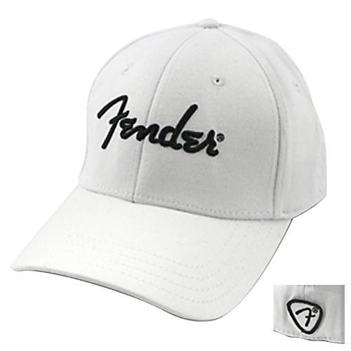 Fender White Script Logo Stretch Cap