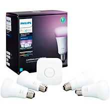 Philips Hue White and Color Ambiance A19 Gen 3 Starter Kit 4-Pack
