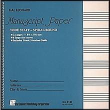 Hal Leonard Wide Staff Spiral Bound Manuscript Paper