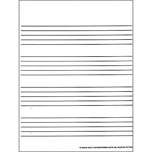 Jeffers Handbell Supplies Wideline Staff Paper