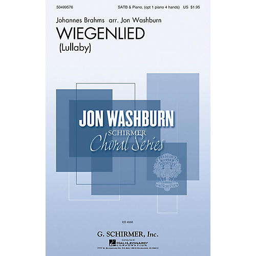 G. Schirmer Wiegenlied SSATB arranged by Jon Washburn