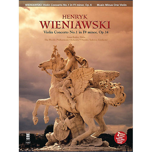 Music Minus One Wieniawski - Concerto No. 1 in F-sharp Minor, Op. 14 (2-CD Set) Music Minus One Series Softcover with CD