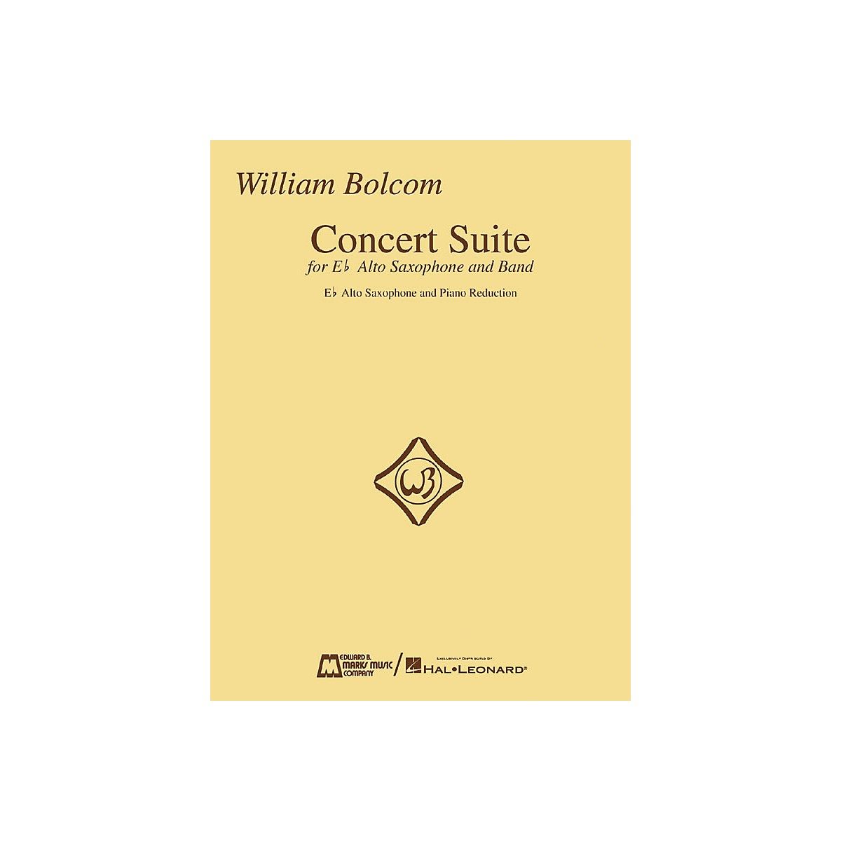 Edward B. Marks Music Company William Bolcom - Concert Suite Woodwind Solo Series  by William Bolcom