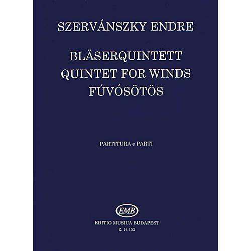 Editio Musica Budapest Wind Quintet No. 1 EMB Series by Endre Szervánszky