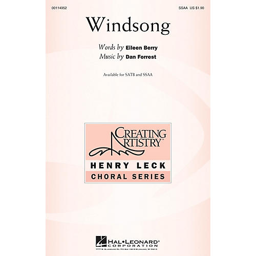 Hal Leonard Windsong SSAA composed by Dan Forrest