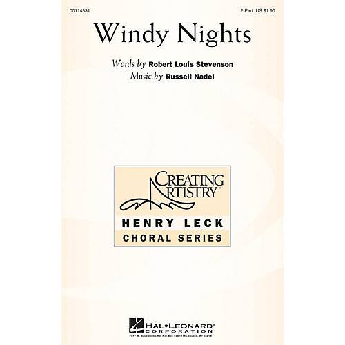 Hal Leonard Windy Nights 2PT TREBLE composed by Russell Nadel