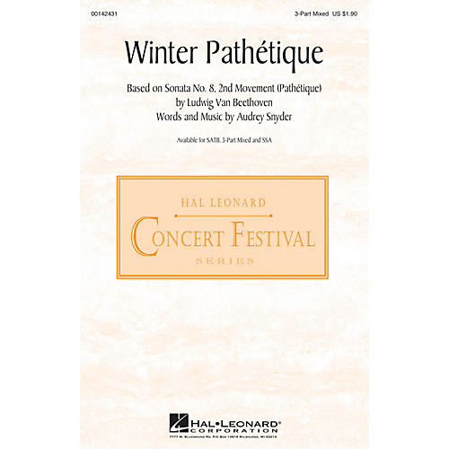 Hal Leonard Winter Pathétique 3-Part Mixed composed by Audrey Snyder