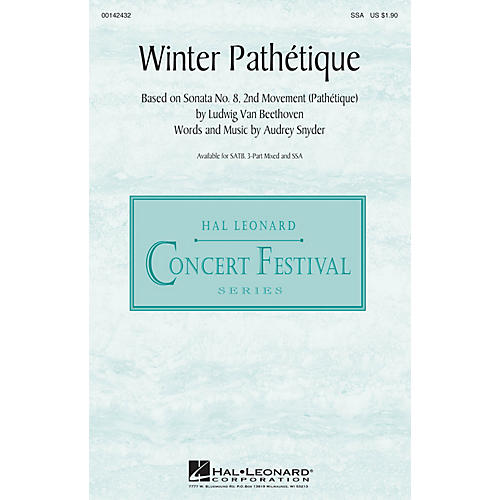 Hal Leonard Winter Pathétique SSA composed by Audrey Snyder