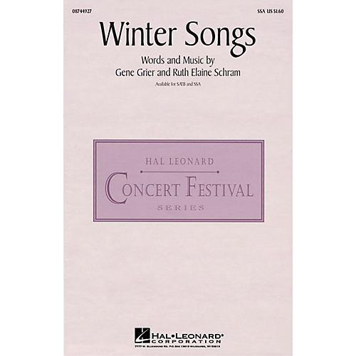 Hal Leonard Winter Songs SSA composed by Ruth Elaine Schram