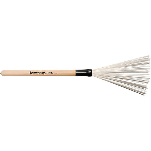Innovative Percussion Wire Brush with Fixed Wood Handle