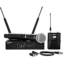 Wireless Bodypack and Vocal Combo System with WL185 and SM58 Band G50