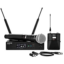 Wireless Bodypack and Vocal Combo System with WL185 and SM58 Band X52