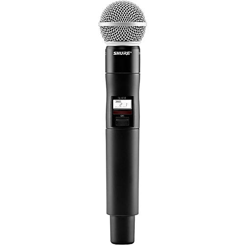 Shure QLXD2/SM58 Wireless Handheld Microphone Transmitter With Interchangeable SM58 Microphone Capsule
