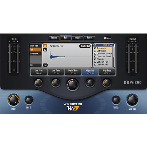 Wizoo WizooVerb W2 Stereo Room Emulator