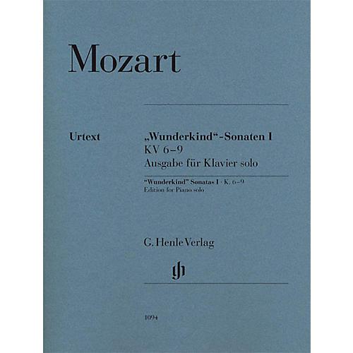 G. Henle Verlag Wolfgang Amadeus Mozart - Wunderkind Sonatas, Volume 1, K. 6-9 Henle Music Softcover Edited by Seiffert