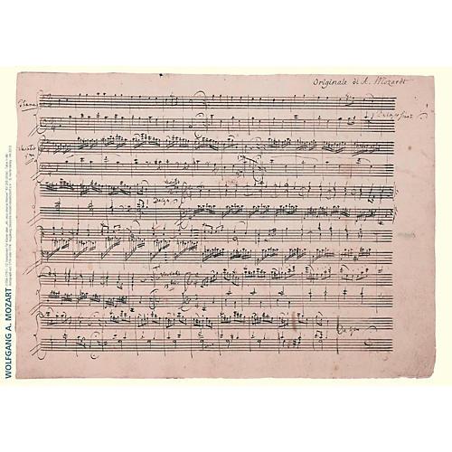 Axe Heaven Wolfgang Amadeus Mozart Music Manuscript Poster - 12 Variations for Keyboard