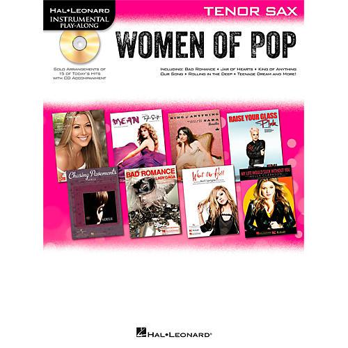 Hal Leonard Women Of Pop For Tenor Sax - Instrumental Play-Along Book/CD