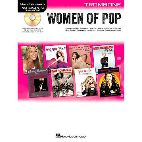 Hal Leonard Women Of Pop For Trombone - Instrumental Play-Along Book/CD