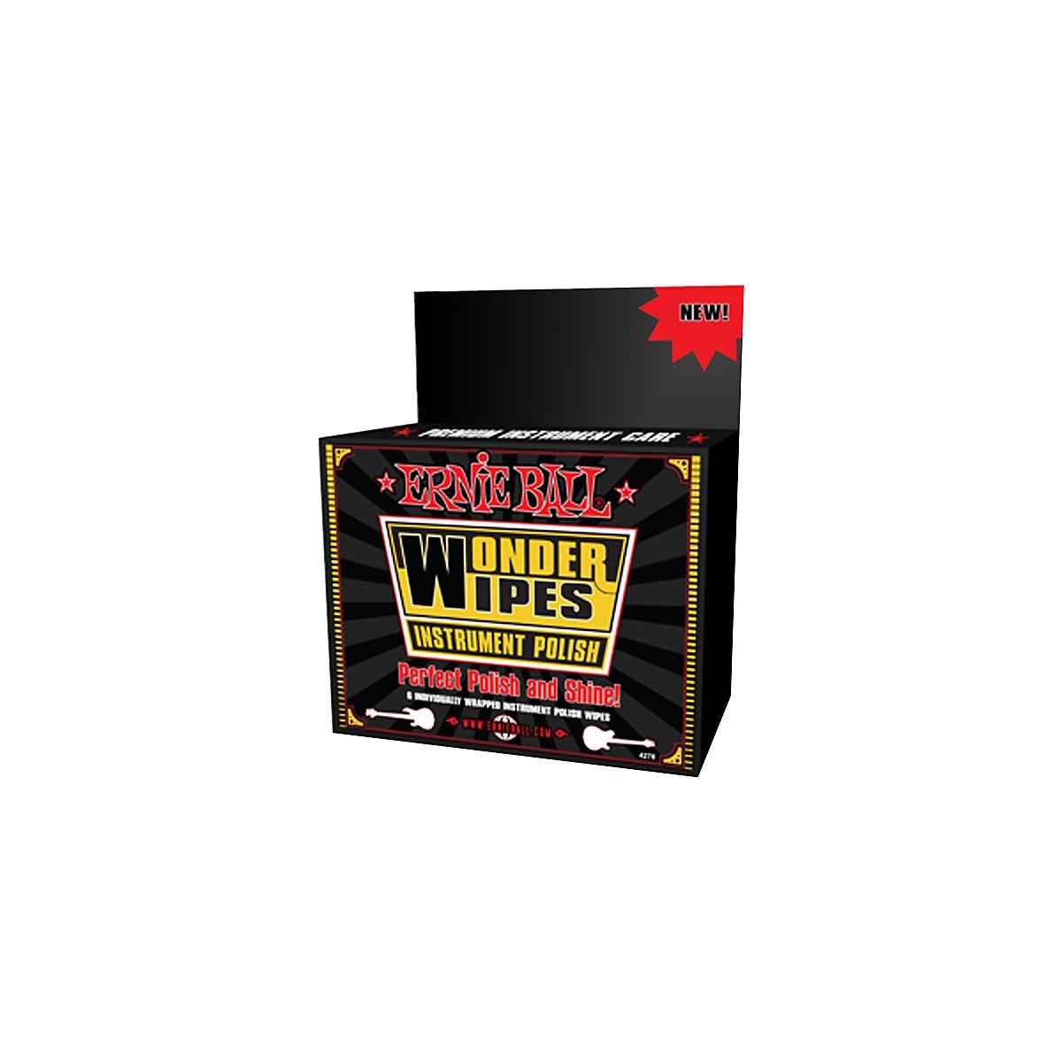 Ernie Ball Wonder Wipe Instrument Polish 6-pack
