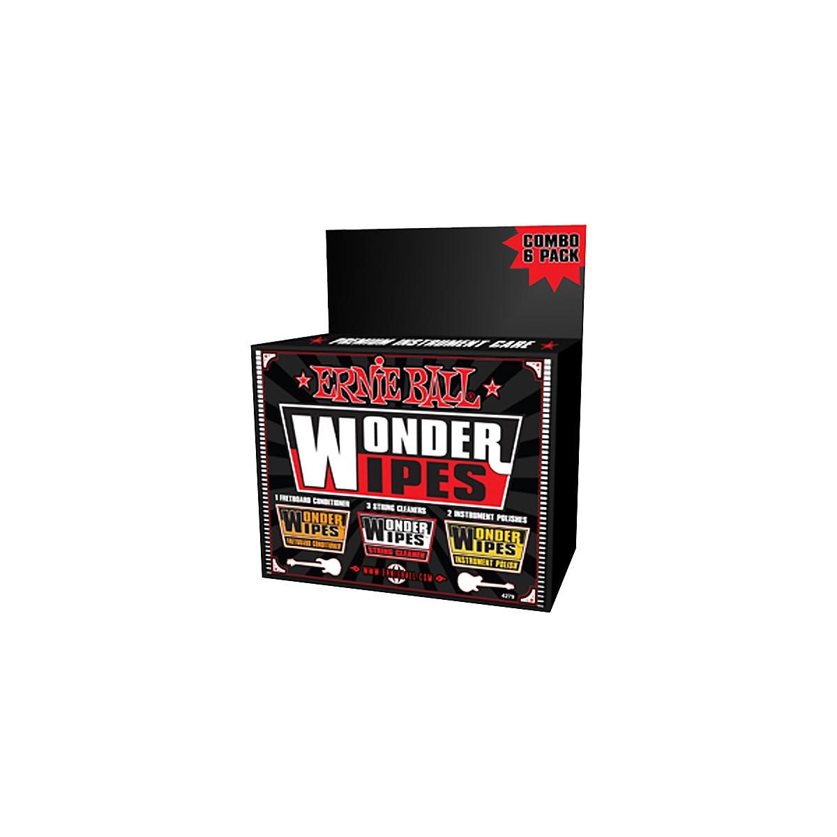 Ernie Ball Wonder Wipe Variety 6-pack