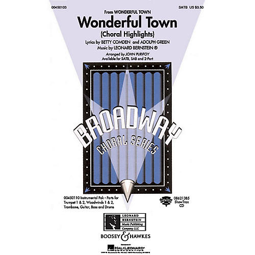Hal Leonard Wonderful Town (Choral Highlights) Combo Parts Arranged by John Purifoy