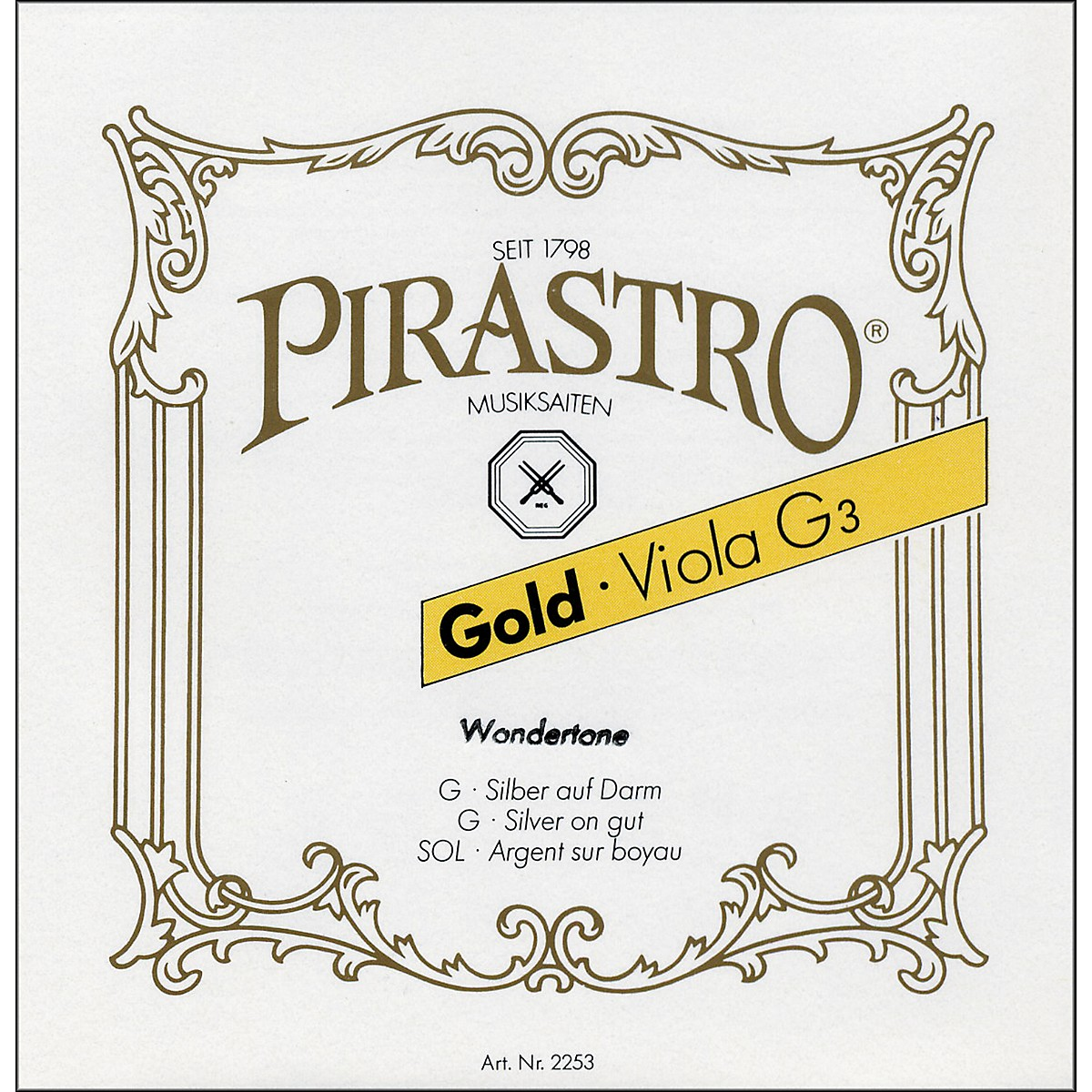 Pirastro Wondertone Gold Label Series Viola D String