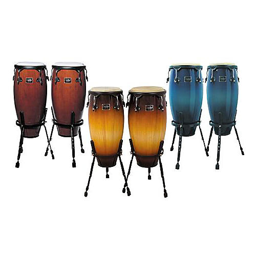 Schalloch Wood Quinto and Conga Set with Height-Adjustable Basket Stands