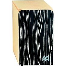 Woodcraft Collection Snare Cajon Striped Onyx Frontplate Medium