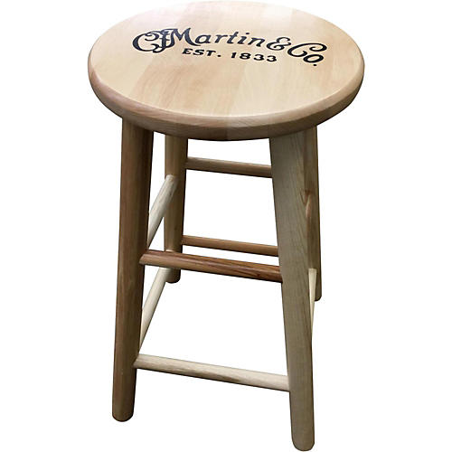 Martin Wooden Ash Logo Barstool 24 in Guitar Center