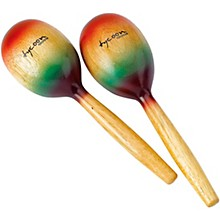 Tycoon Percussion Wooden Maracas - Rainbow Finish