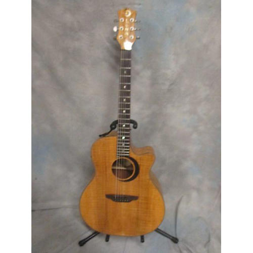 Luna Guitars Woodland Series Spalted Maple Acoustic Electric Guitar