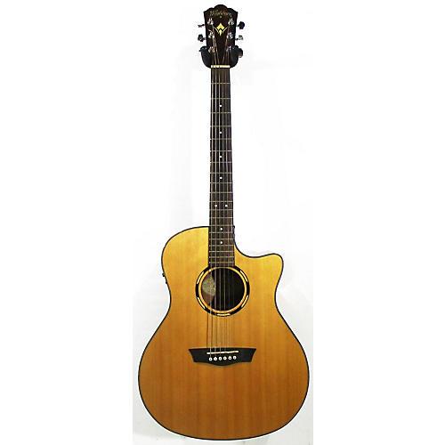 used washburn woodline 10 acoustic electric guitar guitar center. Black Bedroom Furniture Sets. Home Design Ideas