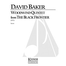 Lauren Keiser Music Publishing Woodwind Quintet (From The Black Frontier) LKM Music Series by David Baker
