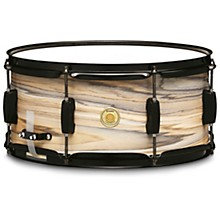 Woodworks Poplar Snare Drum 14 x 6.5 in. Natural Zebrawood Wrap