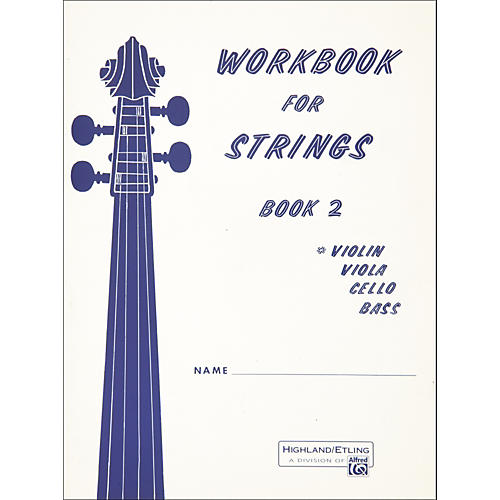 Alfred Workbook for Strings Book 2 Violin