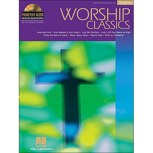Hal Leonard Worship Classics Volume 23 Book/CD Piano Play-Along arranged for piano, vocal, and guitar (P/V/G)